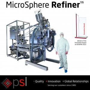 Microspheres, Achema, microsphere formulation, award winning