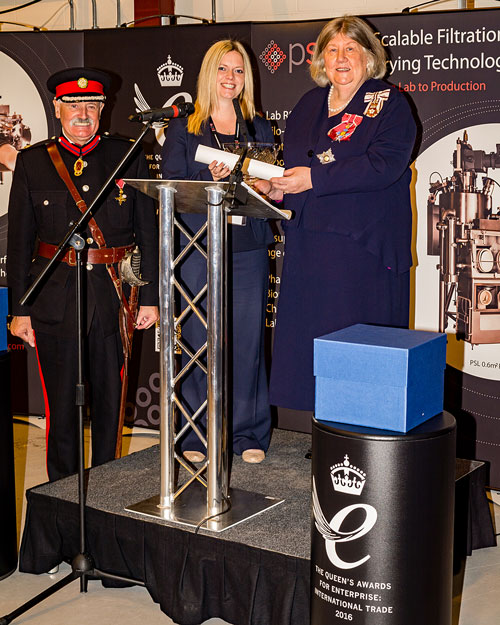 MD Amanda Gowans receives the official Queen's Awards scroll